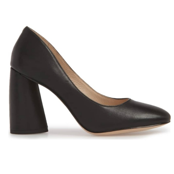 c842fd2b4a0 Louise et Cie Shoes - Louise Et Cie Black Leather Block Heel Jayant Pump